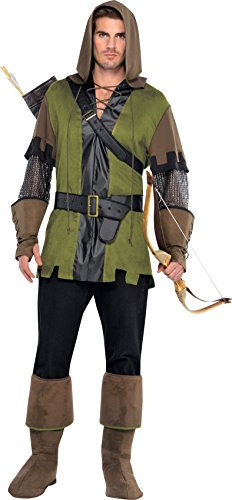 Deluxe Robin Hood Kostüm - Amscan International Erwachsenen-Kostüm Prince of Thieves