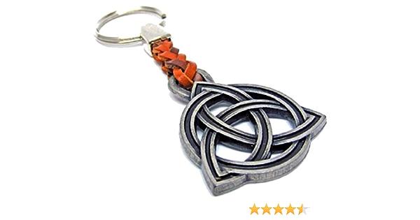 Keltischer Knoten Glücksbringer Metall Mit Lederband Schlüsselanhänger Keyholder Schlüssel Keyrings Koffer Rucksäcke Taschen