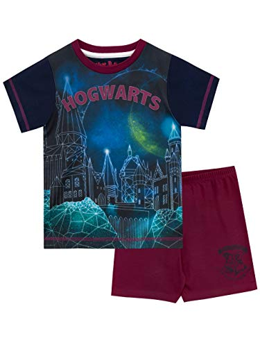 4ea4461cf Harry Potter Pijamas de Manga Corta para niños Hogwarts Azul 9-10 Años