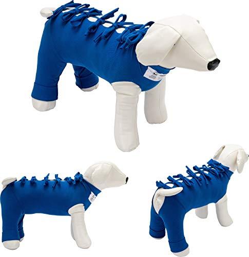 Bendana Postoperativer Anzug für Hunde und Katzen, schützt Wunden und Verbände und lässt dem Tier Seine Bewegungsfreiheit. Modell 021 - Anzug für Bauch, Brustkorb und Hinterbeine (M)
