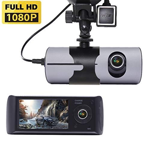 PXQ Dash Cam Doppelobjektiv GPS 1080P FHD X3000 Fahrrekorder 2,7