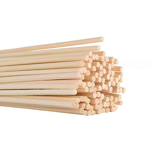 Samtlan Rattanstäbchen, Natürlicher Fasern Diffusor Stöcke, Bambusstäbchen für Raumduft Ersatzstäbchen