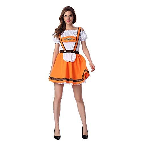 Leoie Herren Deutsche Lederhose Shorts Kostüm Bayern Oktoberfest Karneval Halloween Gr. M, Female (Deutsches Lederhosen Kostüm Muster)
