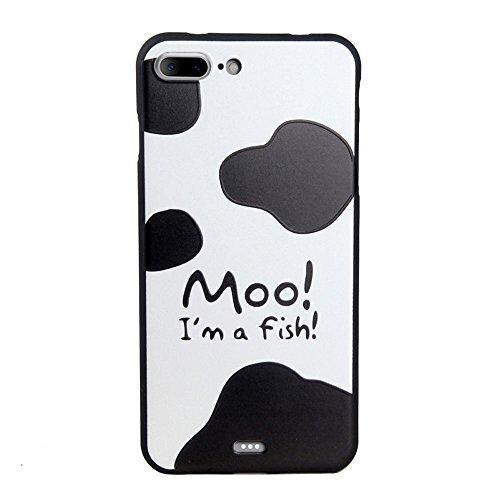 UKDANDANWEI Apple iPhone 7 Plus Hülle - TPU 3D Handyhülle Schutzhülle Silikon kratzfeste stoßdämpfende Case für Apple iPhone 7 Plus [Dummy Doll] ] ] Cow Skin
