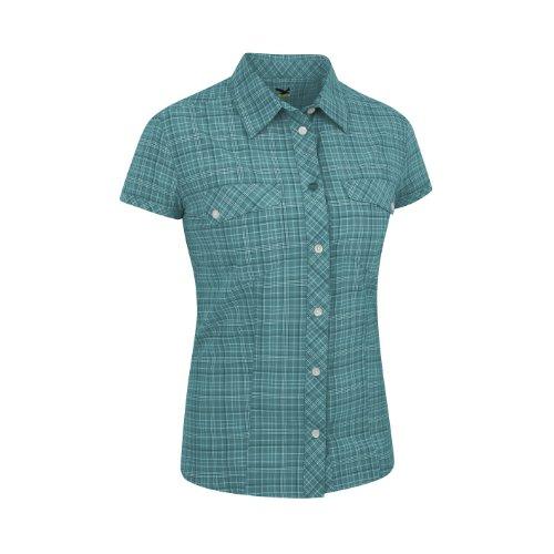 SALEWA Damen Hemd Kitaa Dry Am W Short Sleeve Shirt m talut kashmirgreen