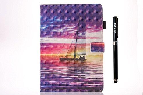 inShang iPad Hülle Schutzhülle für iPad iPad pro 10.5, PU Leder, Ständer Etui Tasche Smart Case Cover für ipad iPad pro 10.5 inch mit Automatische Einschlaf/Aufwach + inShang Logo hochwertigen Stylus  boat