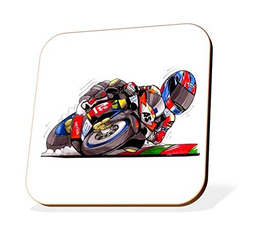 K1662-CST Koolart Gifts Cartoon Aprilia RSVR Motorcycle Wooden Coaster for Cups & Mugs (Motorbike Gifts & Gift Ideas)