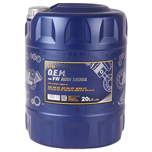 MANNOL 7715 O.E.M. 5W-30 API SN/CF Motorenöl, 20 Liter