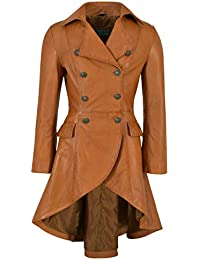Smart Range Leather Co Ltd. Edwardian Giacca in Vera Pelle da Donna Cappotto  con Fibbia sul Retro in Nappa Marrone… 44569674942