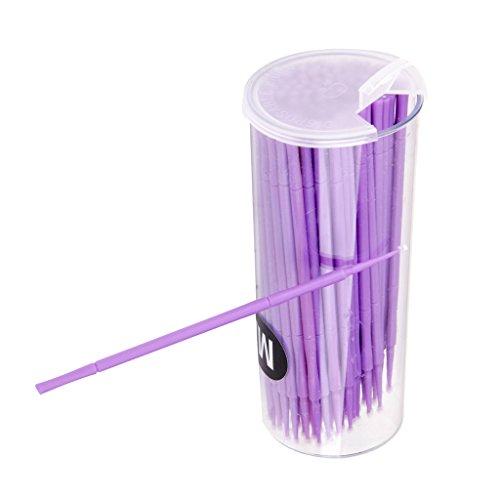 Fenteer Lot 100pcs Coton-tige Jetables avec Poignée en Plastique Ecouvillon Hygiénique à Maquillage/Tatouage