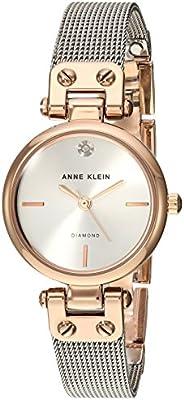 Anne Klein Women's Genuine Diamond Dial Mesh BraceletW