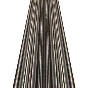 Teppichläufer, Schwarz, mit Streifen, für Flur, Treppen (erhältlich in jede Länge bis 30m), Polypropylen, schwarz, L: 3.00m (9ft 10in) x W: 70cm* (Ft Schwarz L Läufer 9)