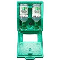 Preisvergleich für Notfall-Wandbox mit Augenspülflaschen - 2 x Kochsalzlösung - HxBxT 270 x 225 x 110 mm - Augendusche Augennotdusche...