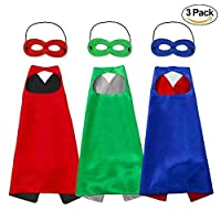 Horsky Unisex Capes and masks - Dressing up Cloaks for Boys and Girls Blue Green Red Black