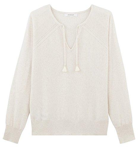 Promod Pullover aus Baumwolle Ecru XS