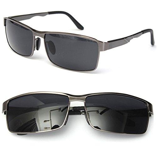 Aoligei Lunettes de soleil mode haute définition Film Ocean steel ball jambe lunettes de soleil homme Dame avec lunettes de soleil miroir plat hhMUa15IuS