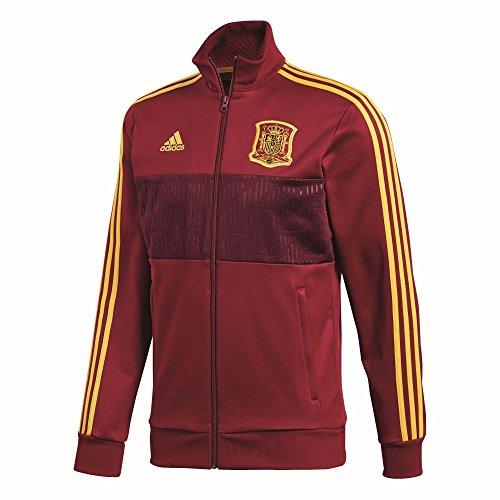 bbd3abe394989b Adidas Fußball Spanien 3 Streifen Track Jacke Herren dunkelrot gelb Gr XXL