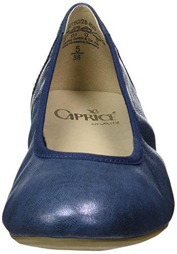 Caprice 22160, Ballerine Donna Blu (océan Métallisé)
