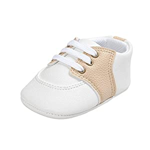 ESTAMICO Baby Boys Girls Shoes Infant PU Leather Prewalker Sneakers