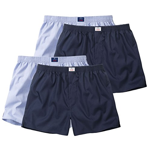 Tom Tailor - Web-Shorts 2er Pack, Boxer Uomo - azzurro/blu