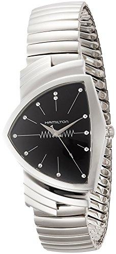 Hamilton Ventura L Cadran noir montre pour homme H24411232