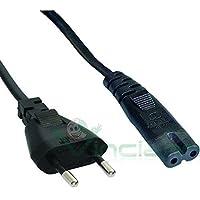 Cable de alimentación Bipolar de 2 Polos 1,4 m Enchufe Europeo para Playstation 1 PS1, PS2 Playstation 2, Playstation 4 PS4