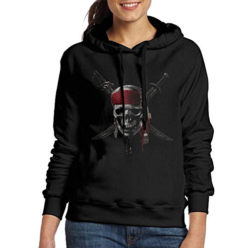 56cd90f999ea best  Caribbean Skull Pirates Logo Women s Classic Pullover Print Hooded  Kapuzenpullover Hooded Kapuzenpullover Sweatshirt with Drawstring XX-Large