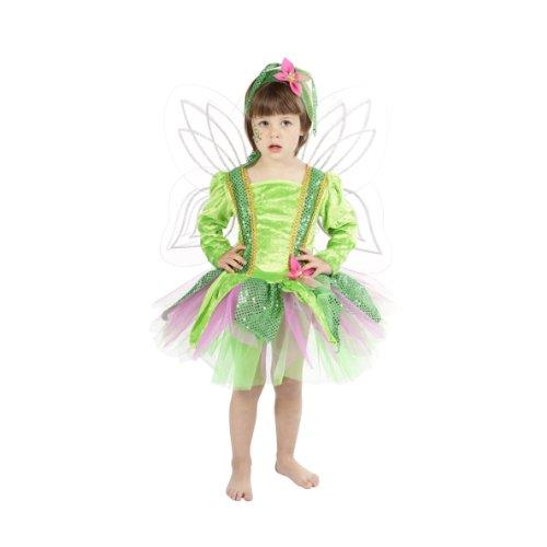 Imagen de nines d'onil export  disfraz de ninfa del bosque, para niños, t 2, color verde y rosa d6212