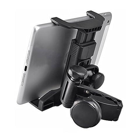 KFZ Kopfstütze Universale Tablet Halterung, Pococina 360 Grad drehbare Auto Kopfstütze Einstellbare Tablethalterung für 6 - 11 Zoll Tablet-PCs und GPS Geräte - (Angebot Tablet)