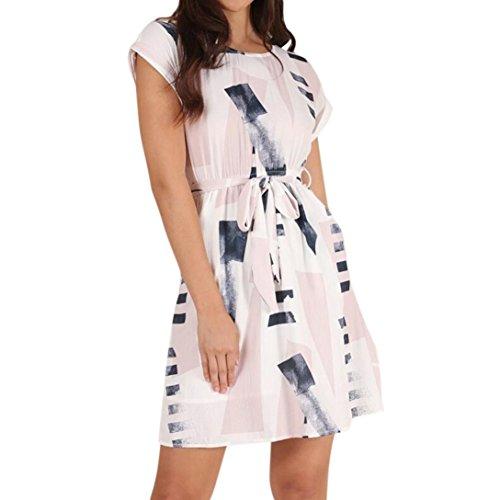 Minikleid SANFASHION Damen Bodycon Bandage Abend Party Kleid Formale Hochzeit Spitzenkleid (Kleider Formale Junior)
