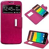 Funda Flip Cover Premium color Rosa para Huawei Ascend G630