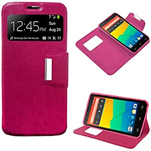 Funda Flip Cover Premium color Rosa para LG JOY