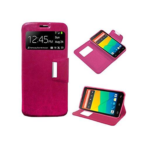 Funda Flip Cover Premium color Rosa para Sony Xperia Z1