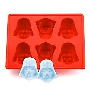 Eiswürfelform, Family Care Silikon Gussform Cartoon Eiswürfel Schokolade Silikonform, Ideal für Schokolade, Süßigkeiten, Götterspeise, Rot