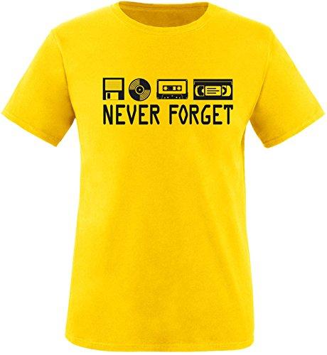 EZYshirt® Ich Irre ? Vielleicht sollte ich mal von meinem Einhorn steigen und dir eine knallen Crew-Neck T-Shirt Gelb/Schwarz