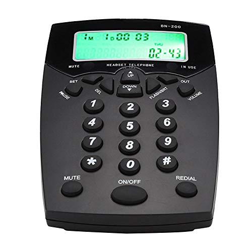 Hakeeta BN200 Call Center Kundendienst Vermittler-Telefonzelle Telefon mit Stummschaltung, hochauflösende Sprachansagen, - Telefonzelle Telefon