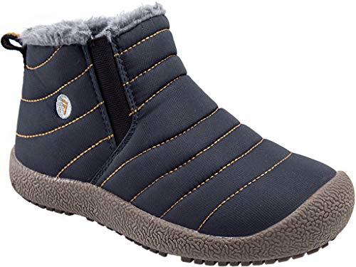 Kinder Winterschuhe Jungen Mädchen Schneestiefel Wasserdicht Warm gefütterte Schlupfstiefel Winter Stiefel Sneaker Schuhe Blau 28.5 EU = 29 CN
