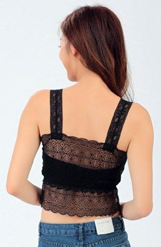 IHRKleid Femme Robe Licol Croix sangle robe irrégulière Noir