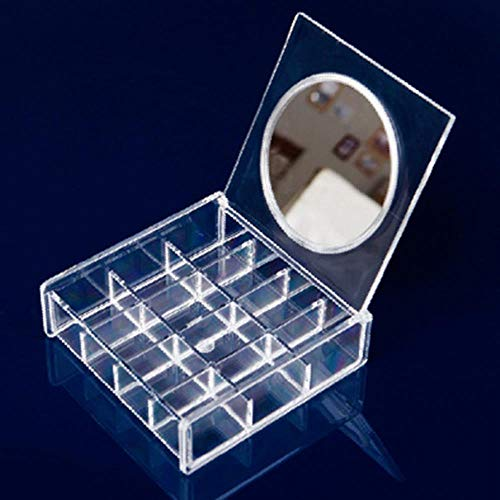 FTFSY PS Nagellack Display Box Makeup Organizer Boxen Kosmetik Aufbewahrungsbox Lippenstift Halter Veranstalter mit Spiegel, 1 (Mit Lippenstift-halter Spiegel)