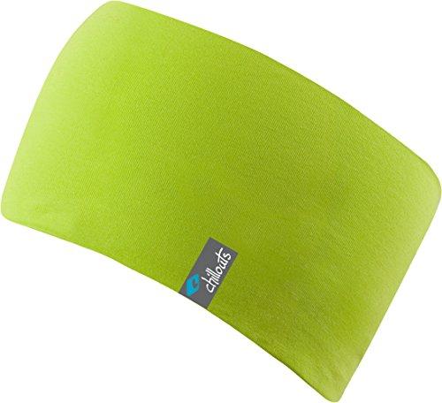 FEINZWIRN Eton Headband-sportliches Kopfband aus Baumwolljersey,doppellagiger und atmungsaktiv, (Lime)