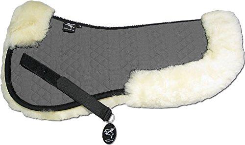 ENGEL GERMANY Demi-Chabraque DE LUXE en peau de mouton couleur coton gris (Sakis 2) Combinez-vous avec 12 coleur de peau de mouton