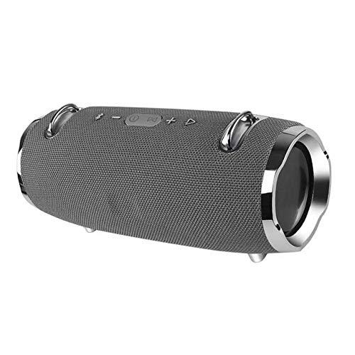 qiyan , Nouvelle génération de Deux Tambours Mini Haut-Parleur Bluetooth extérieure étanche Haut-Parleur sans Fil Bass Pistolet Audio Placage extérieur Sangle Audio-en Haut-parleurs Portables Gris