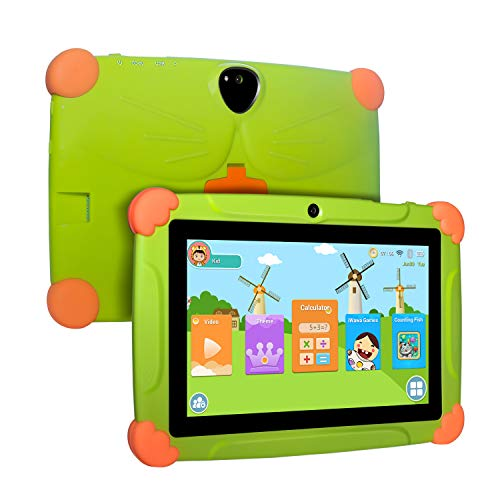 "Xgody Kinder Tablet 17,8 cm (7 Zoll), 17,8 cm (7 Zoll) HD Display Edition für Kinder, Android 8.1 GMS, 16 GB, Quad Core, Blau grün grün 7"" Display"