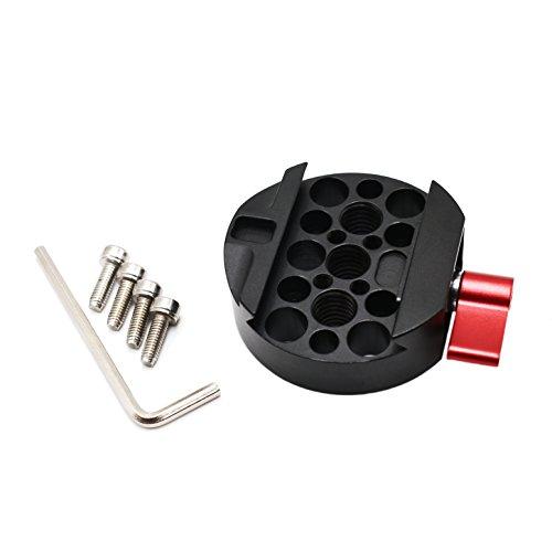 Zhiyou Adaptador de placa de liberación rápida para DJI Ronin, Ronin-M y Ronin MX Gimbal Stabilizer