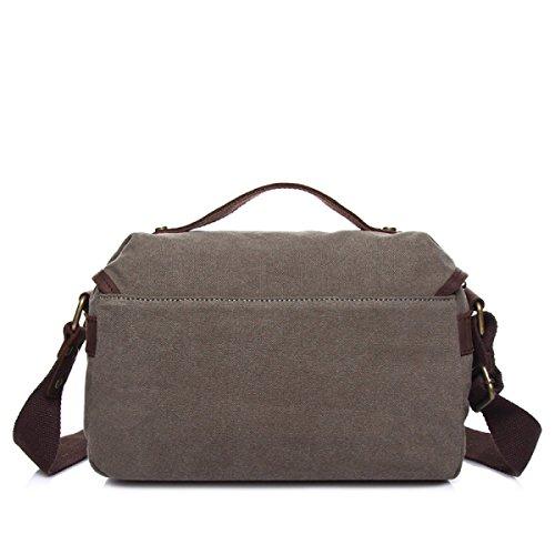 Männer Messenger Bag Segeltuch Schulter Im Freien Retro Freizeit Sporttasche Blue