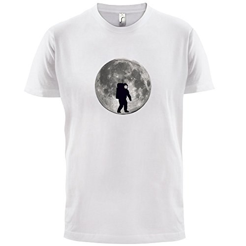 Astronaut On The Moon - Herren T-Shirt - 13 Farben Weiß