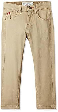 Lee Cooper Boys' Trousers (1000659306020_Khaki_13-14)