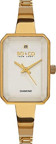So New York & Co-Bracciale in quarzo sfaccettato, cristallo rettangolari-Cover, colore: oro, tonalità colore: oro, (Accent Diamante Bracciale)