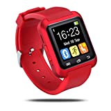 Bluetooth Smart Watch pour Android et iOS smartphones, Hinmay U8Smartwatch Bracelet tracker de fitness avec podomètre/lecteur de musique/appel rappel/Remote Camera pour homme femme, Smart montre bracelet de santé pour Apple iPhone 6/6s/6plus/6S Plus/5S/SE, Samsung Note 3/Note4/Note5/S7/S6/S5/S4, Sony, Huawei