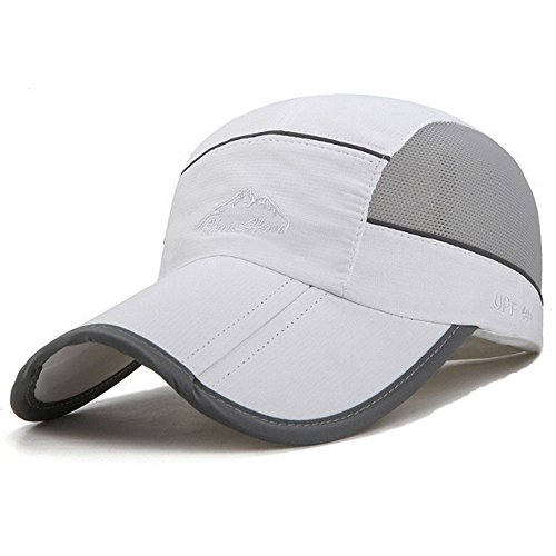 KIMTIME Breathable Quick-Drying Sports Sun Hats UPF50+ Lightweight Folding HatsUltra...